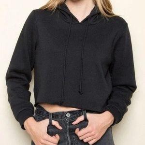 NWT Brandy Melville Lennon crop hoody black small